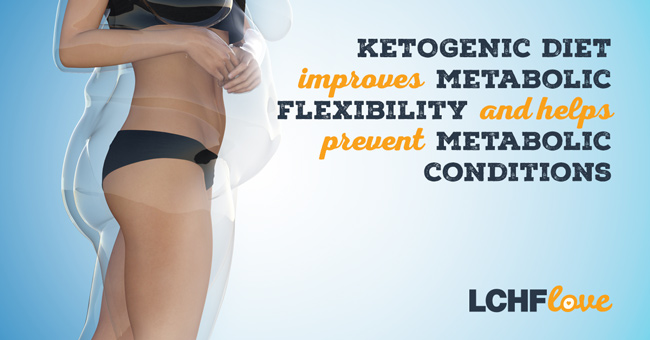 Ketogenic diet improves metabolic flexibility and helps prevent metabolic conditions