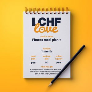 Fitness meal plan with online support