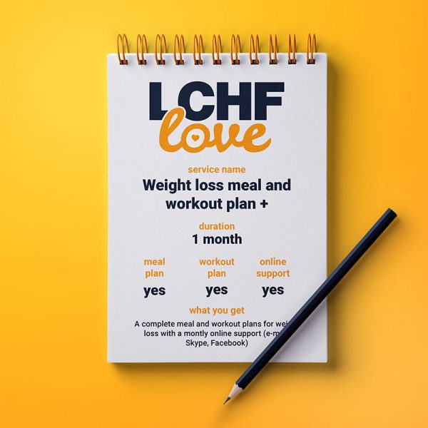 Weight loss meal and workout plan with online support